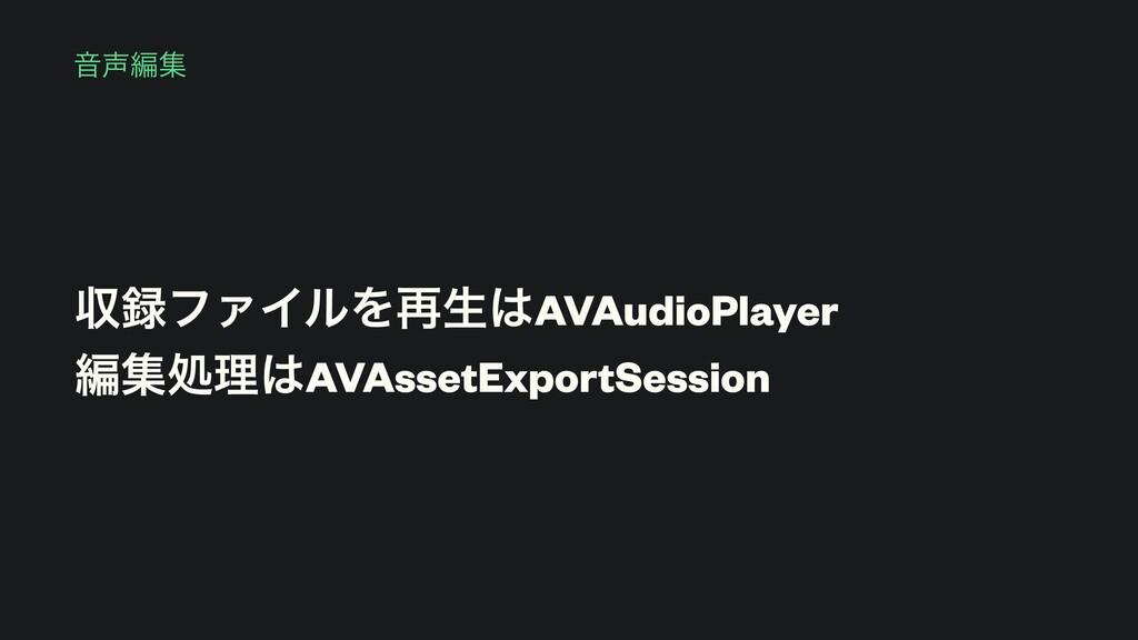 Իฤू ऩϑΝΠϧΛ࠶ੜAVAudioPlayer ฤूॲཧAVAssetExport...