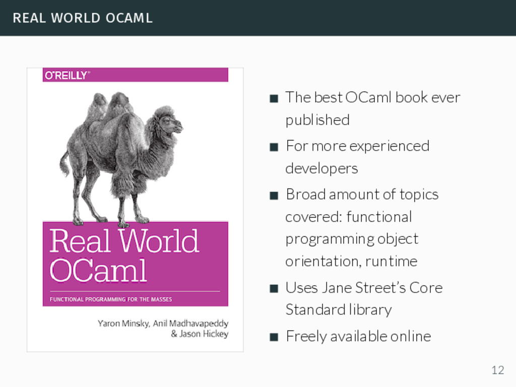 real world ocaml The best OCaml book ever publi...