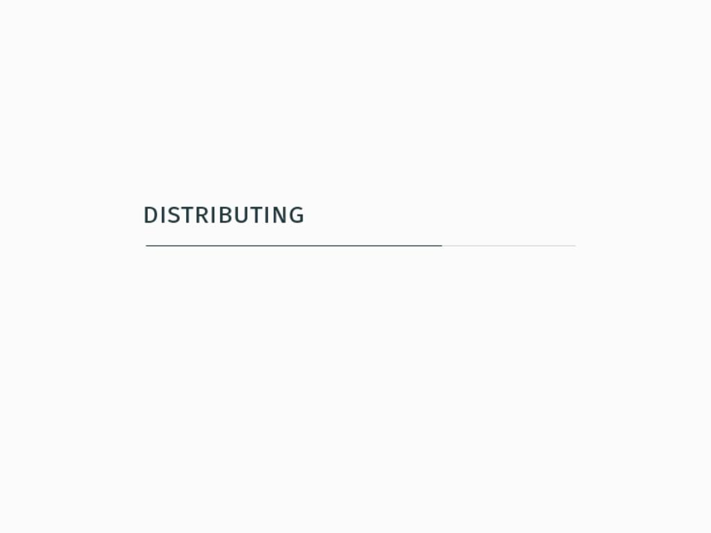 distributing