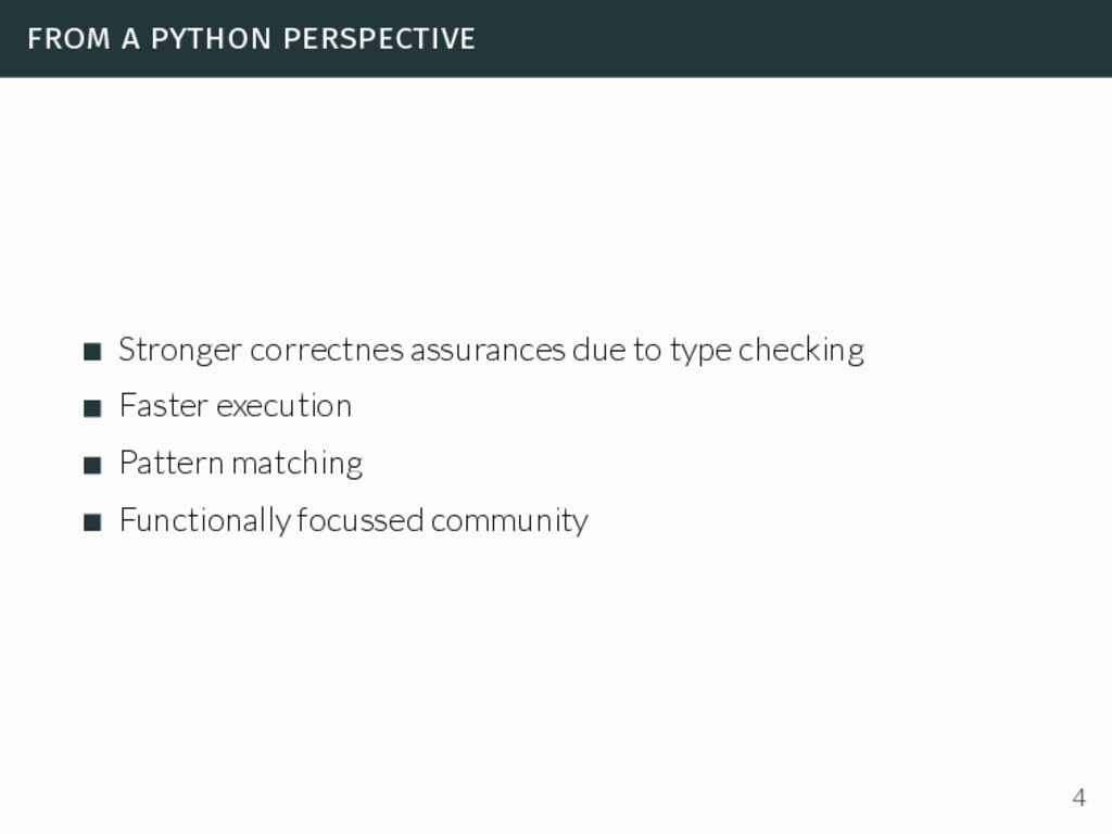 from a python perspective Stronger correctnes a...