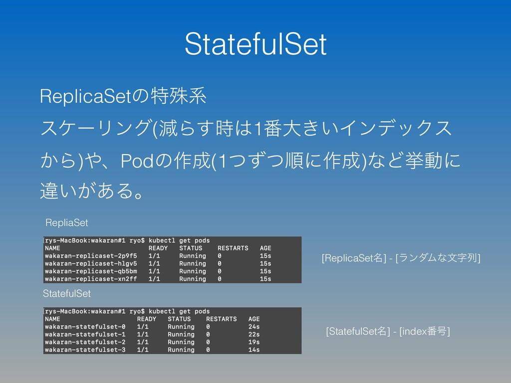 StatefulSet ReplicaSetͷಛघܥ εέʔϦϯά(ݮΒ͢1൪େ͖͍Πϯσ...