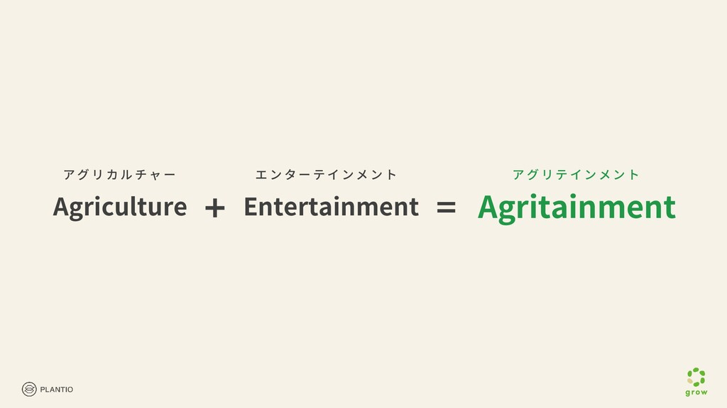Agriculture ア グ リ カ ル チ ャ ー エ ン タ ー テ イ ン メ ン ト...