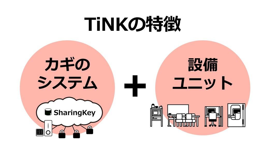 TiNKの特徴 カギの システム SharingKey 1 2 3 4 5 6 7 8 9 ˔...