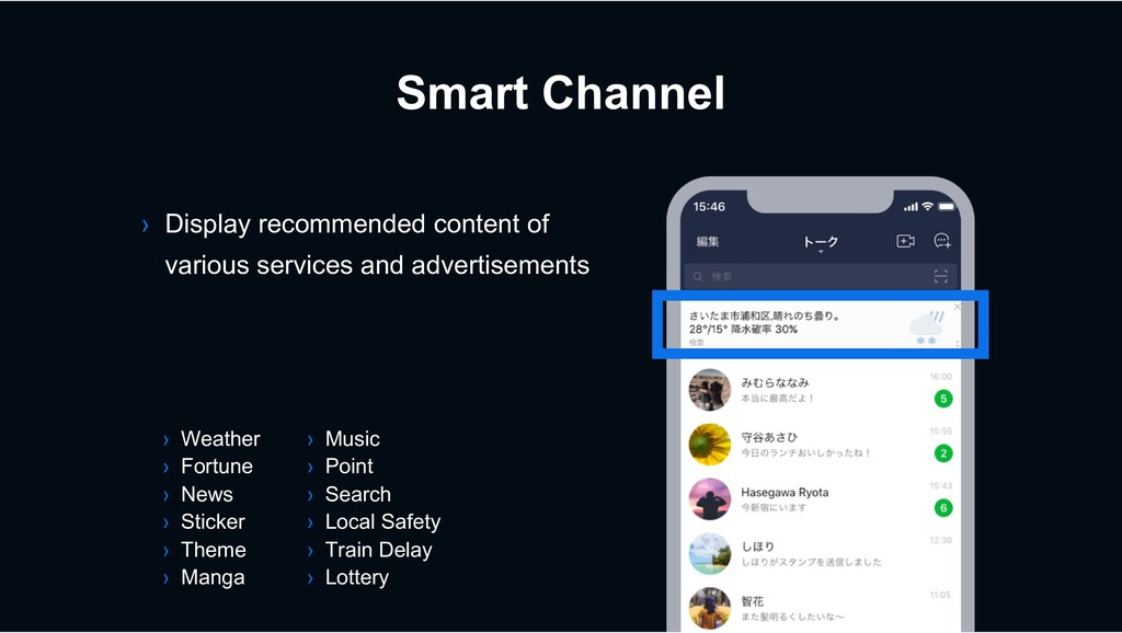 Smart Channel › Display recommended content of ...