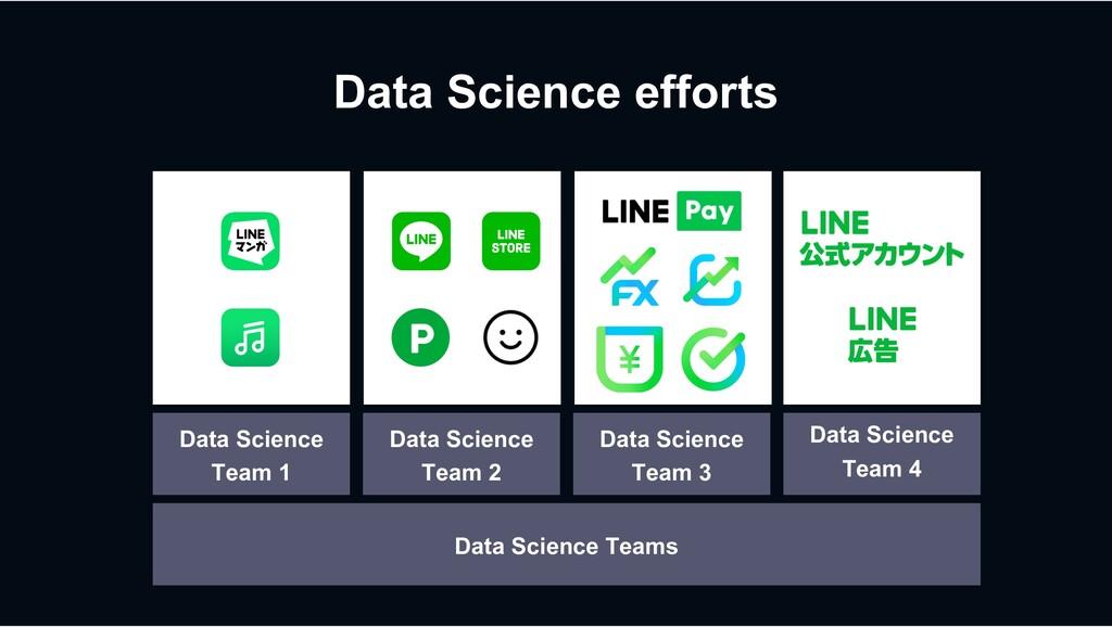 Data Science efforts Data Science Team 1 Data S...