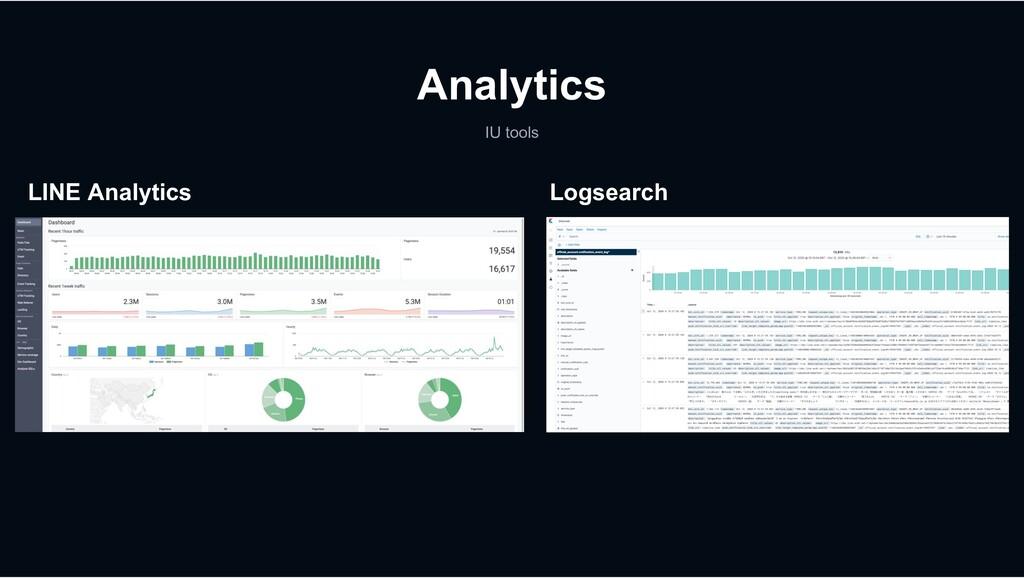 Analytics IU tools LINE Analytics Logsearch