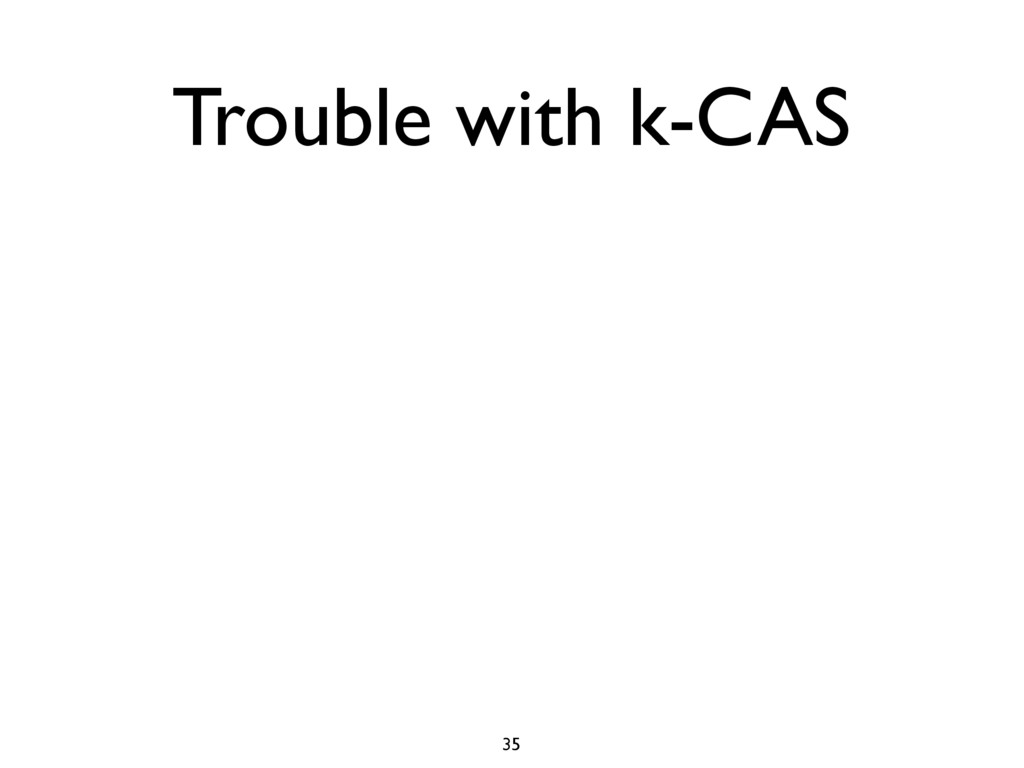 Trouble with k-CAS 35