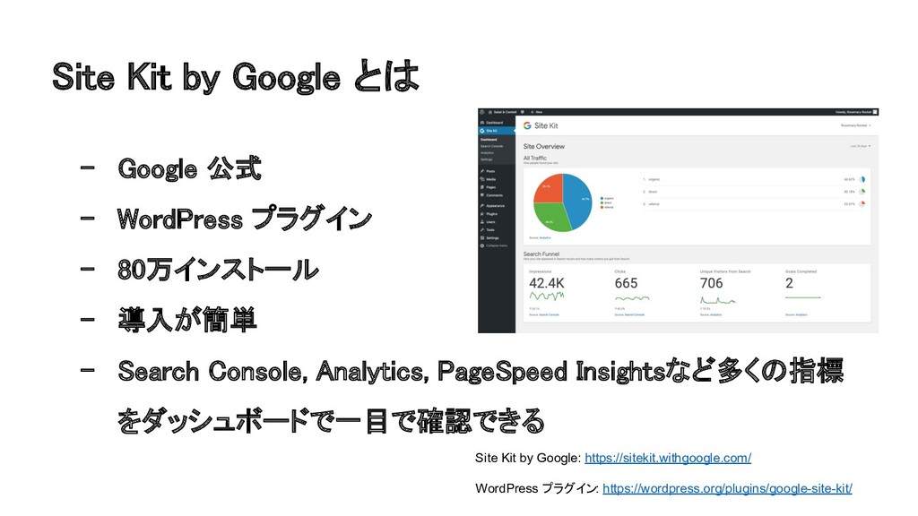 ite Kit by Google と 