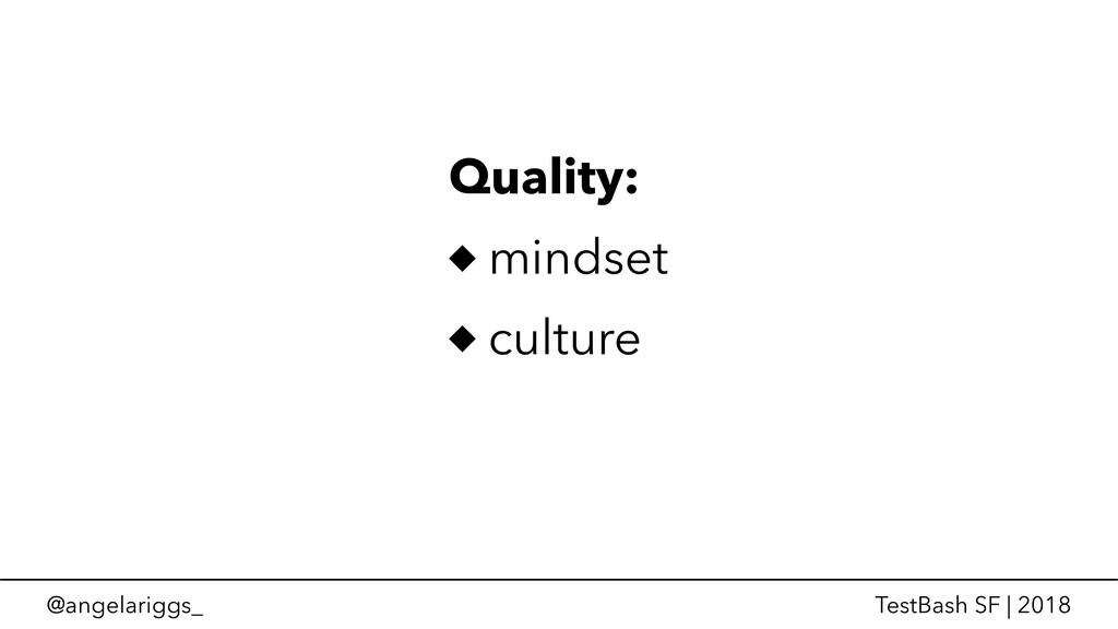 @angelariggs_ TestBash SF | 2018 Quality: minds...