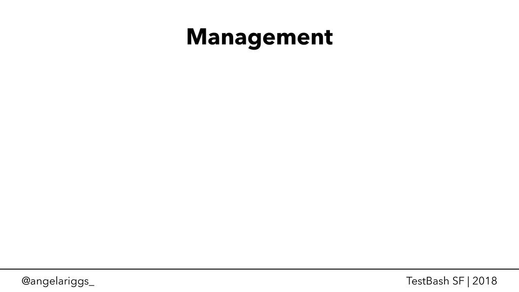@angelariggs_ TestBash SF | 2018 Management