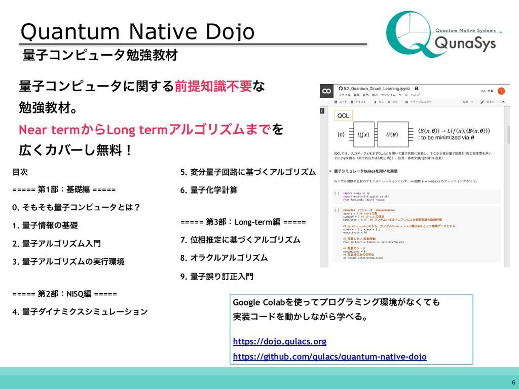 Quantum Native Dojo !6 ྔࢠίϯϐϡʔλษڧڭࡐ  ===== ୈ1...