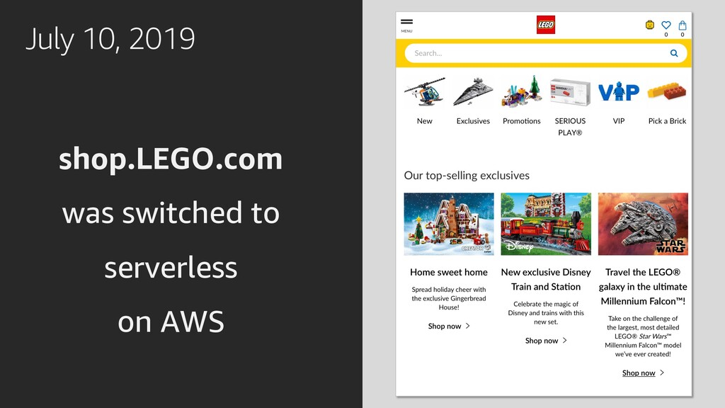 July 10, 2019 shop.LEGO.com was switched to ser...