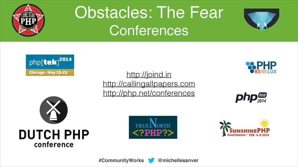 Obstacles: The Fear ! Conferences @michellesanv...