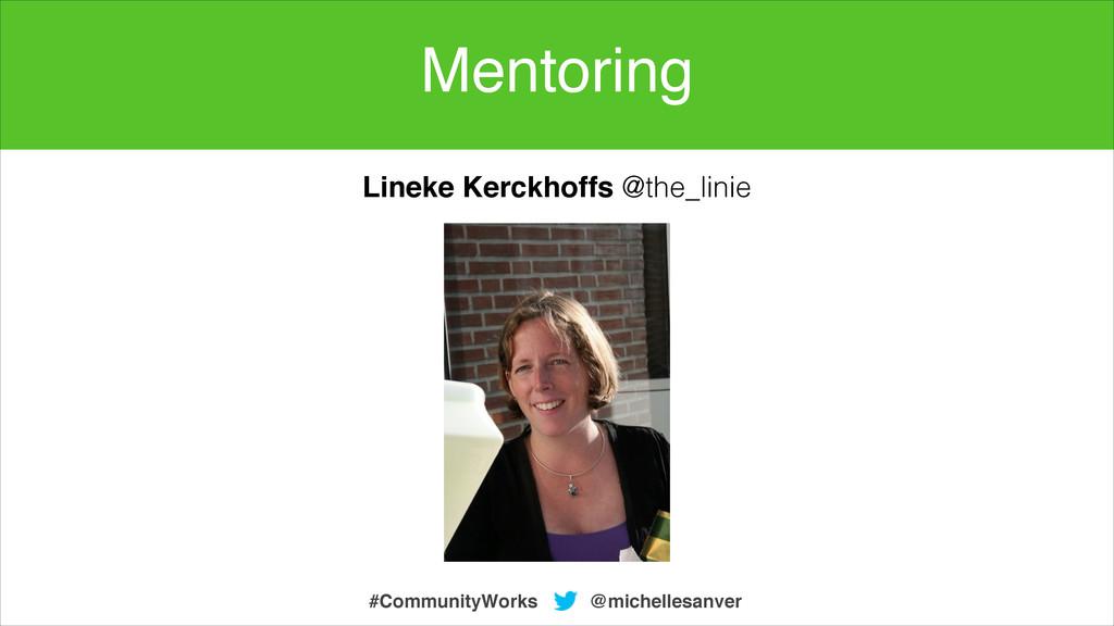 @michellesanver #CommunityWorks Lineke Kerckhof...