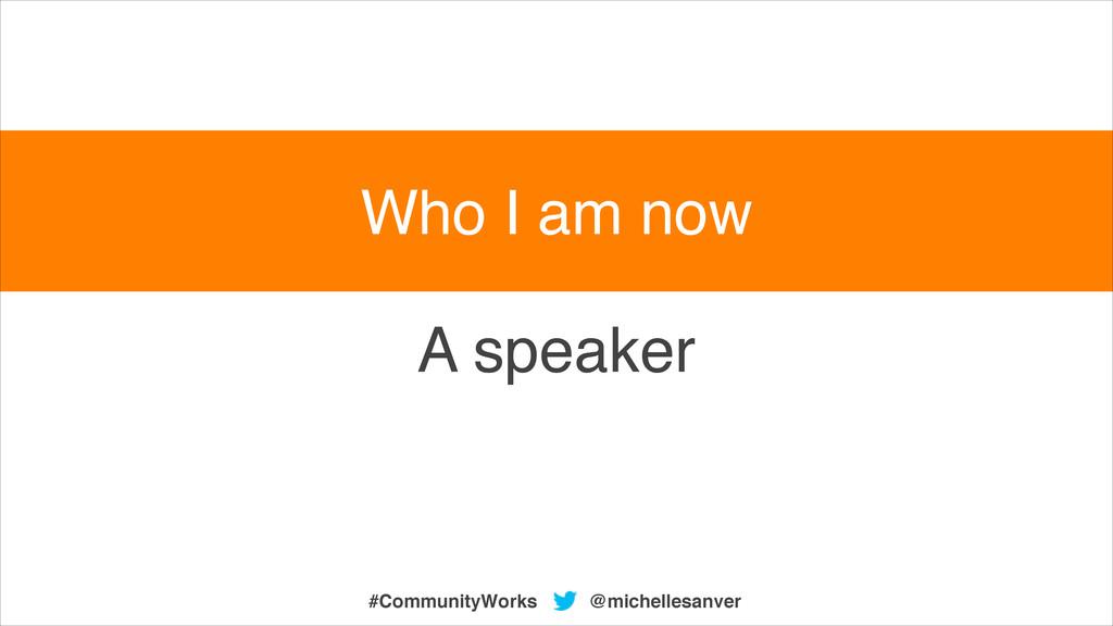 A speaker @michellesanver #CommunityWorks Who I...