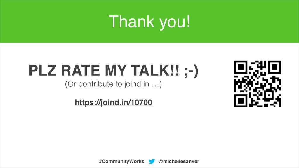 @michellesanver #CommunityWorks PLZ RATE MY TAL...