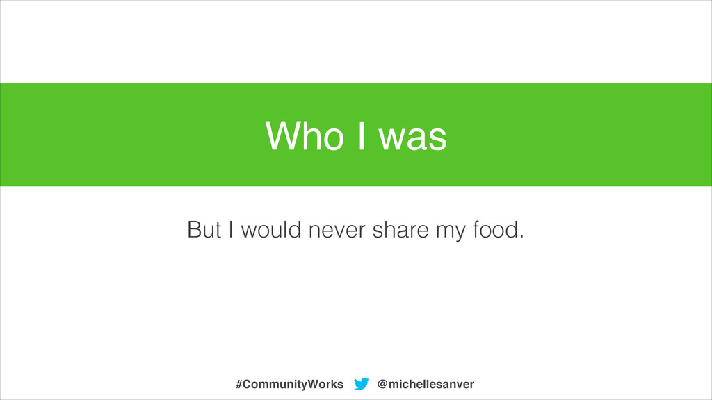 But I would never share my food. @michellesanve...