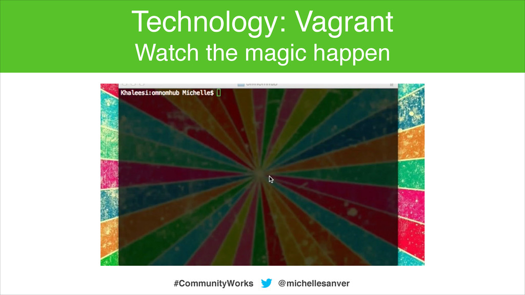 @michellesanver #CommunityWorks Technology: Vag...