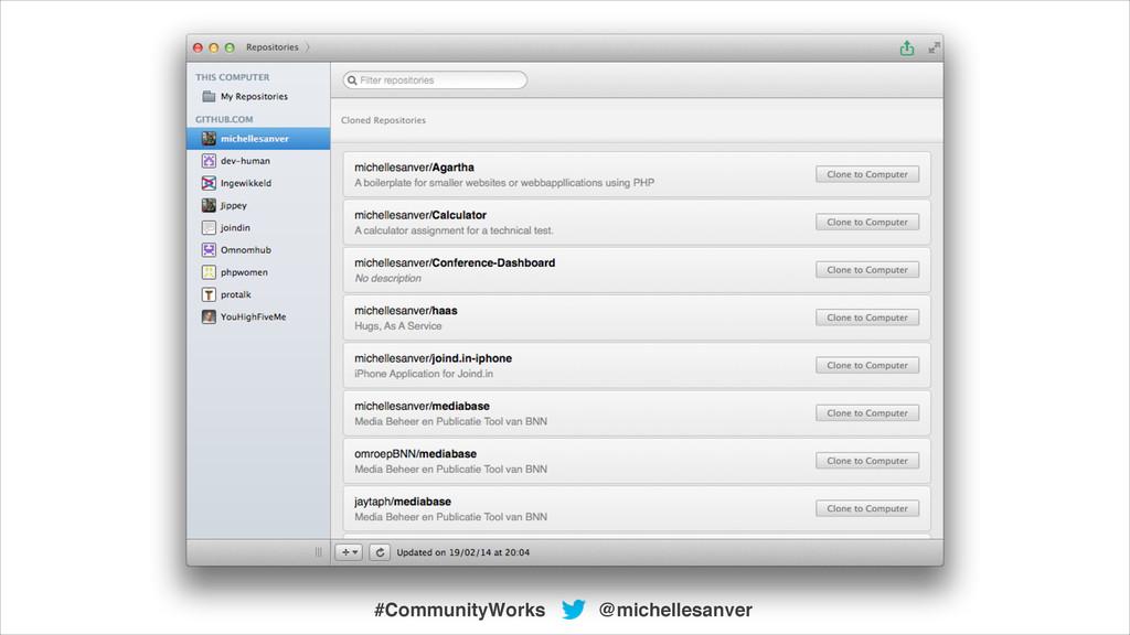 @michellesanver #CommunityWorks