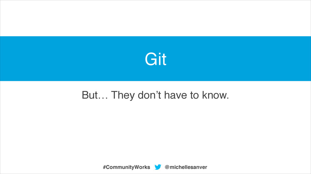 But… They don't have to know. @michellesanver #...