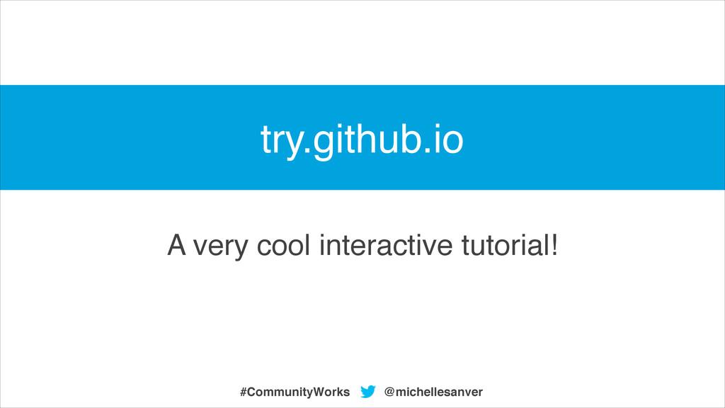 A very cool interactive tutorial! @michellesanv...