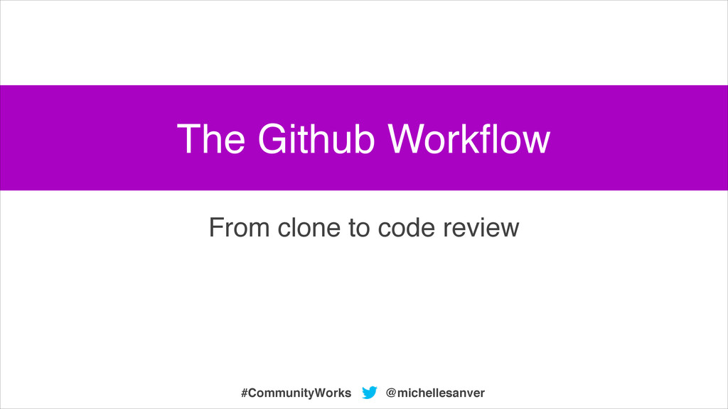 @michellesanver #CommunityWorks From clone to c...