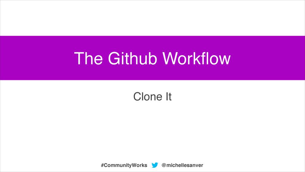 @michellesanver #CommunityWorks Clone It The Gi...