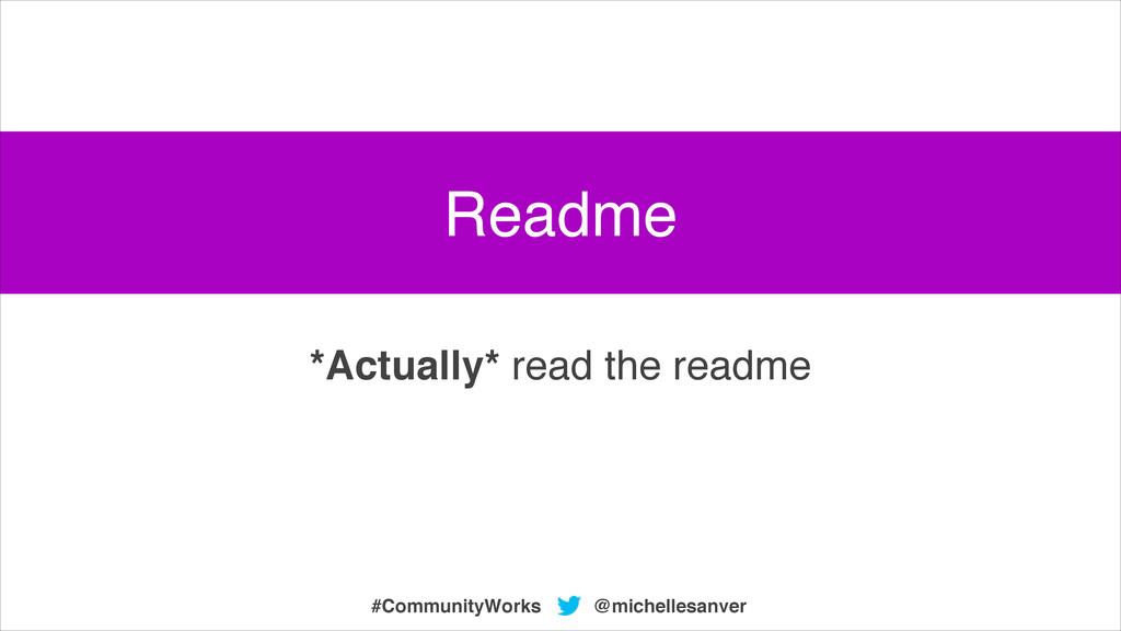 @michellesanver #CommunityWorks *Actually* read...