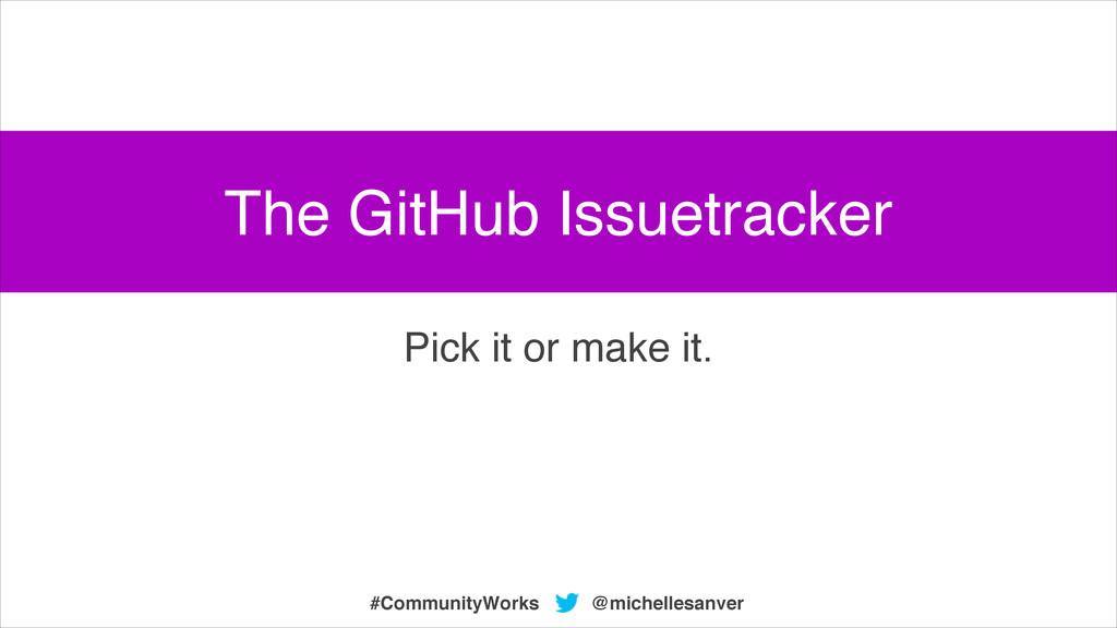 @michellesanver #CommunityWorks Pick it or make...