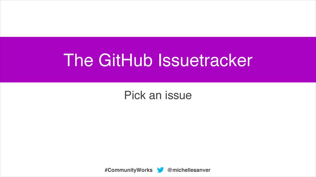 @michellesanver #CommunityWorks Pick an issue T...
