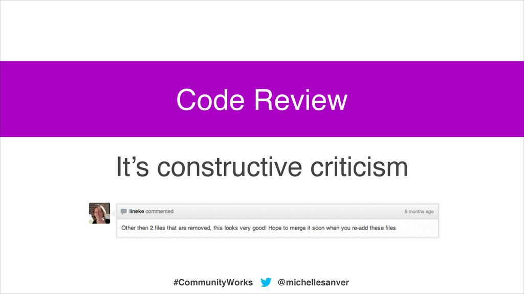 @michellesanver #CommunityWorks It's constructi...