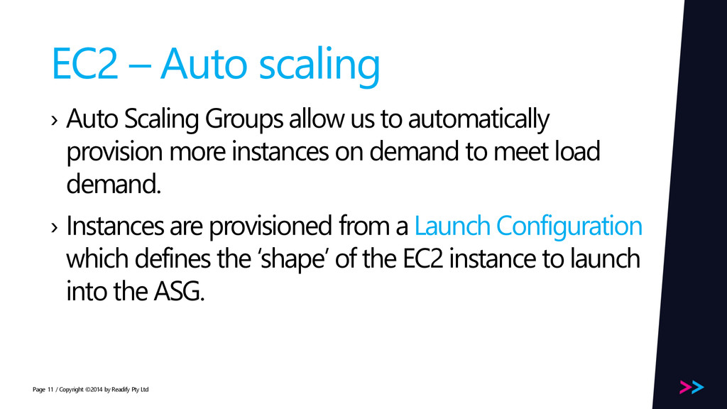 Page EC2 – Auto scaling › Auto Scaling Groups a...