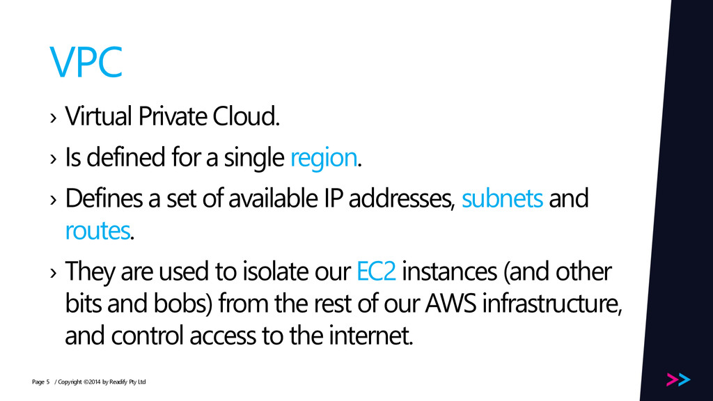 Page VPC › Virtual Private Cloud. › Is defined ...