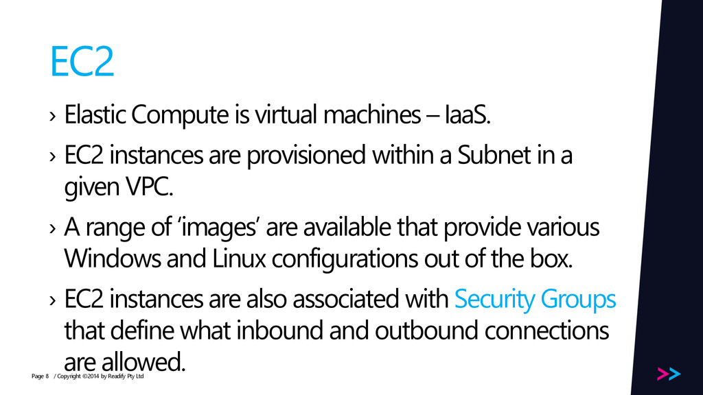 Page EC2 › Elastic Compute is virtual machines ...
