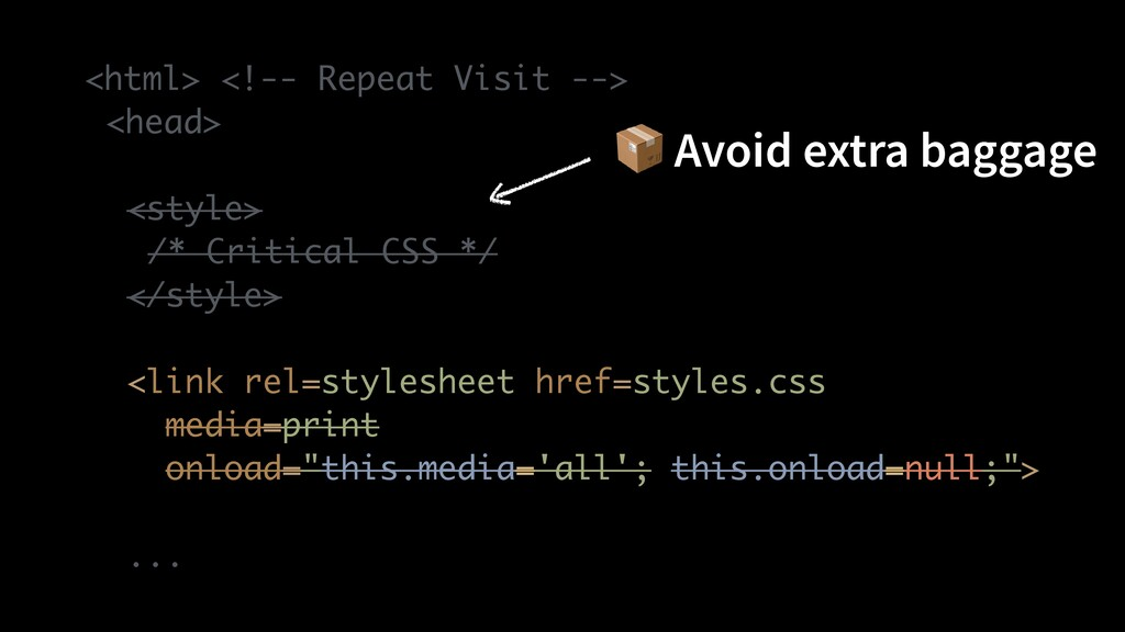 <html> <!-- Repeat Visit -- >  <head >  <style ...