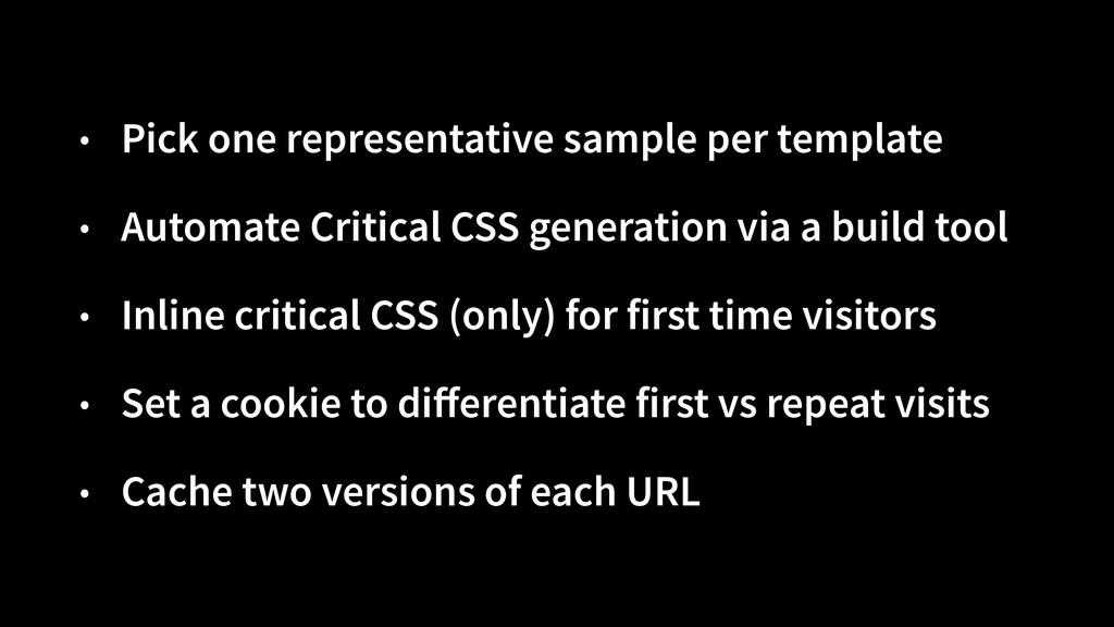 • Pick one representative sample per template  ...