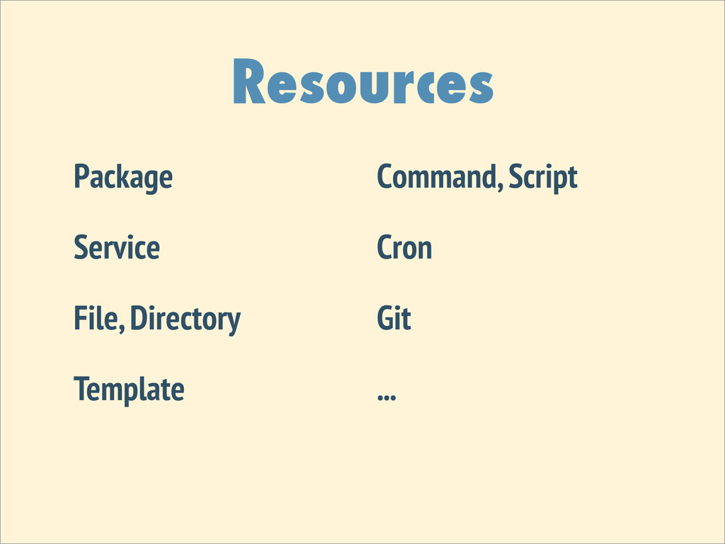 Resources Package Service File, Directory Templ...