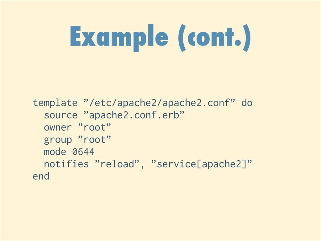 "Example (cont.) template ""/etc/apache2/apache2...."