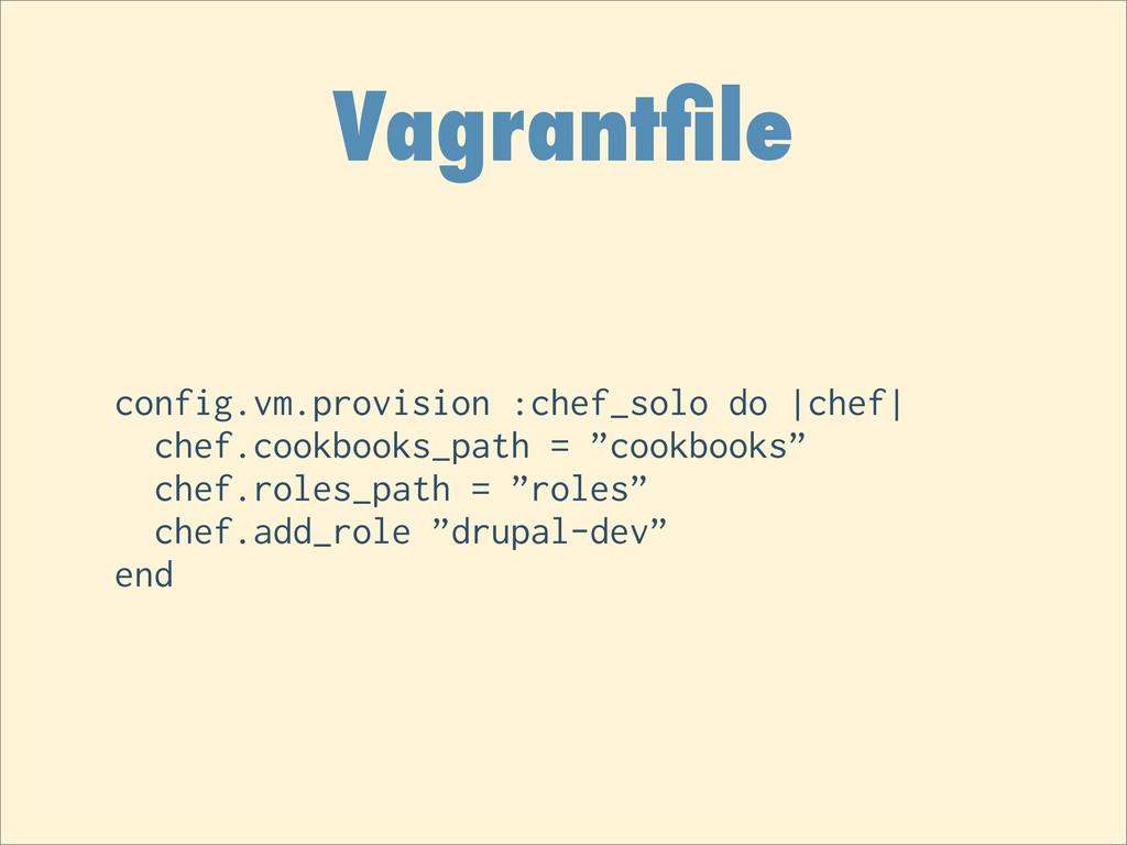 Vagrantfile config.vm.provision :chef_solo do  c...