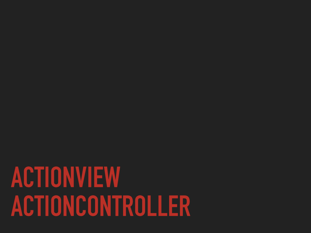 ACTIONVIEW ACTIONCONTROLLER