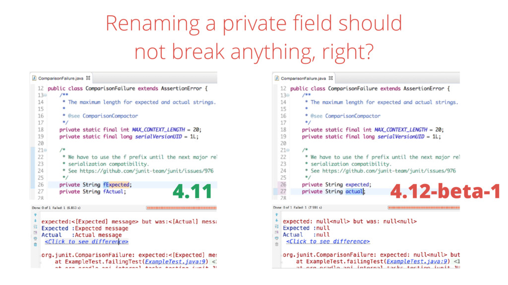 Renaming a private field should not break anythi...