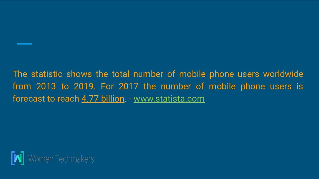The statistic shows the total number of mobile ...