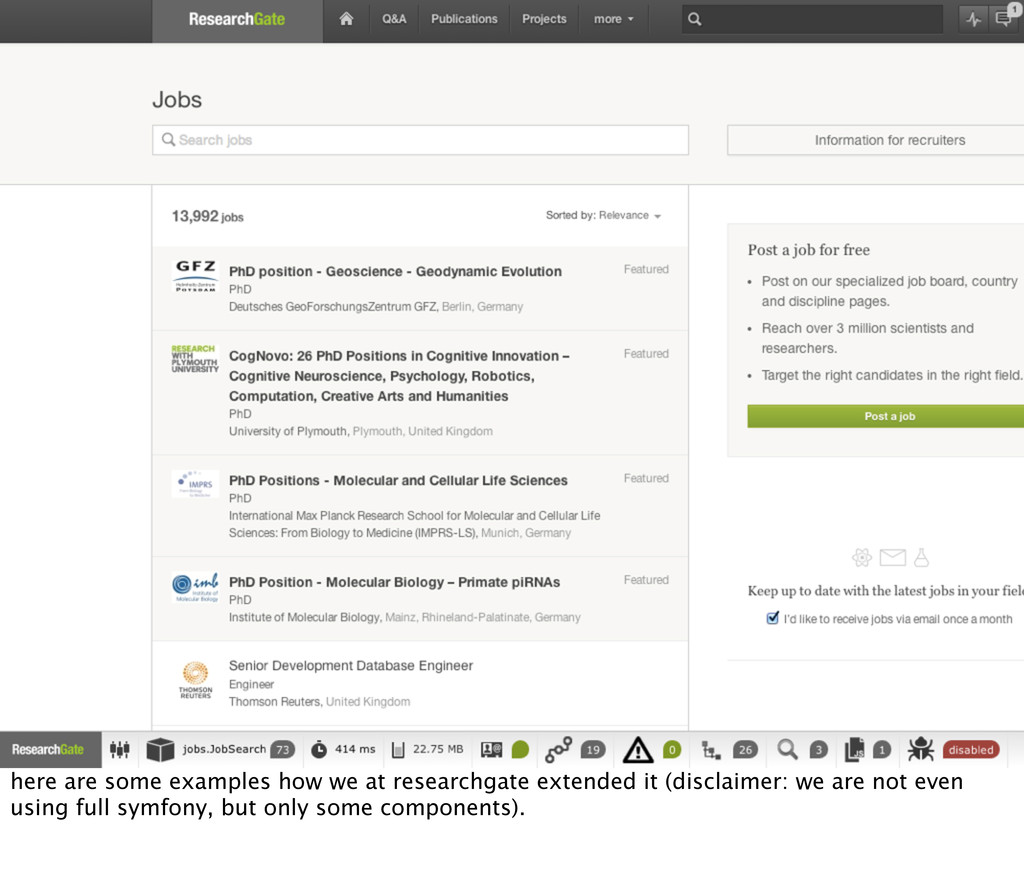here are some examples how we at researchgate e...