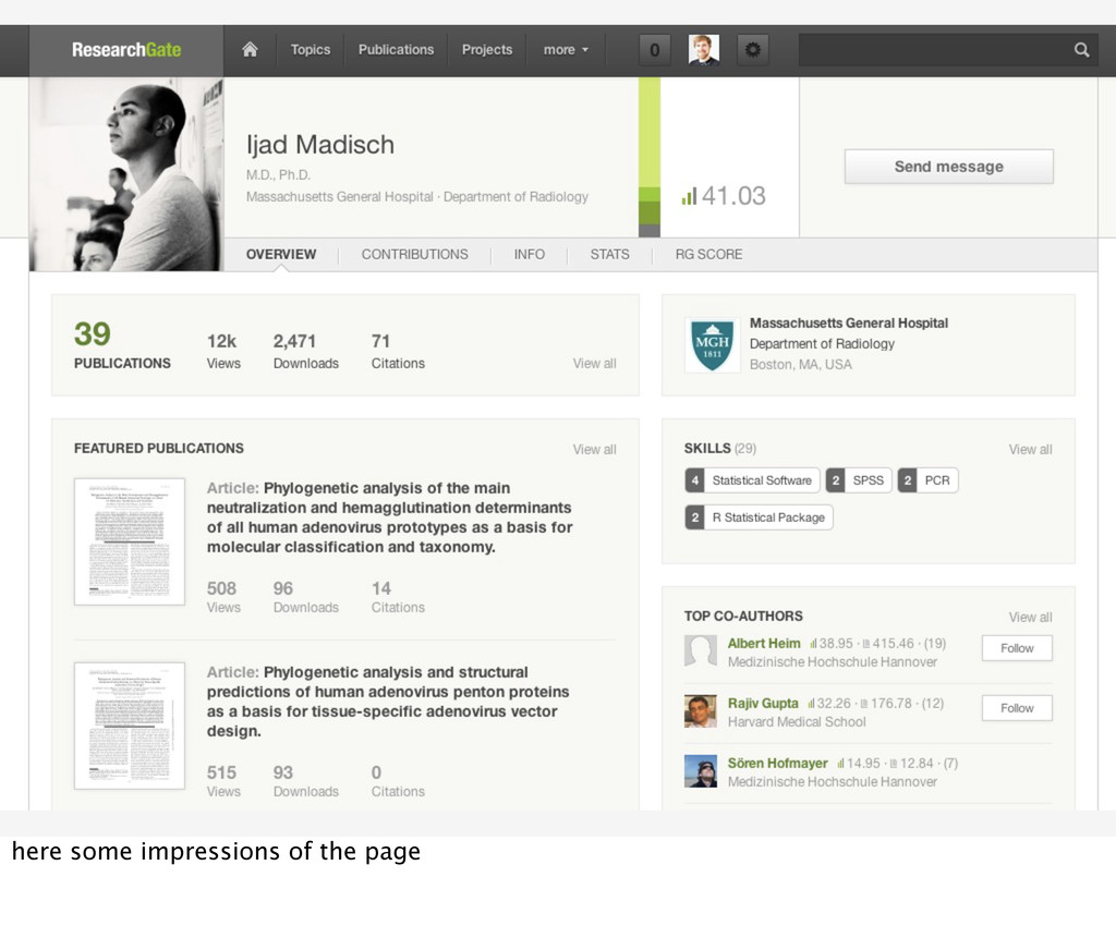 here some impressions of the page