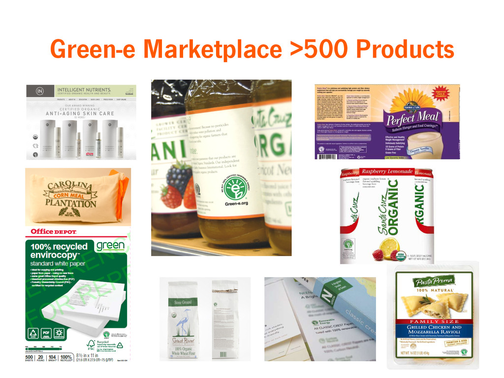 Green-e Marketplace >500 Products