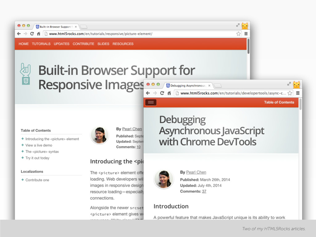 Two of my HTML5Rocks articles.