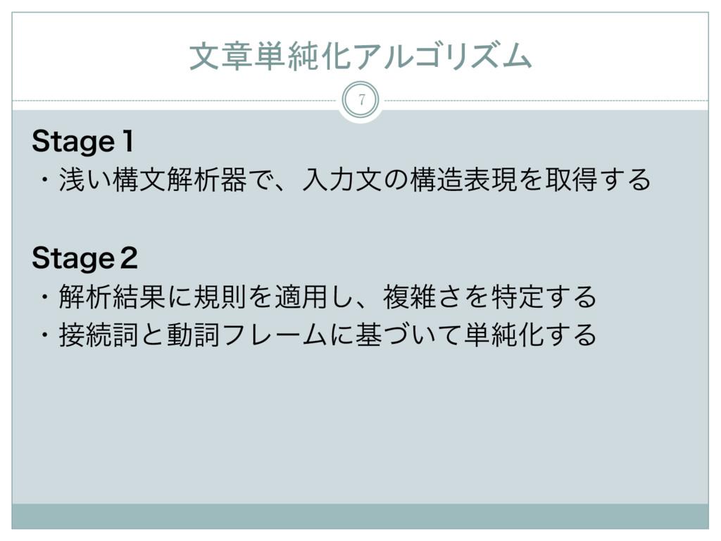 文章単純化アルゴリズム 7 4UBHF̍ ɾઙ͍ߏจղੳثͰɺೖྗจͷߏදݱΛऔಘ͢Δ ...