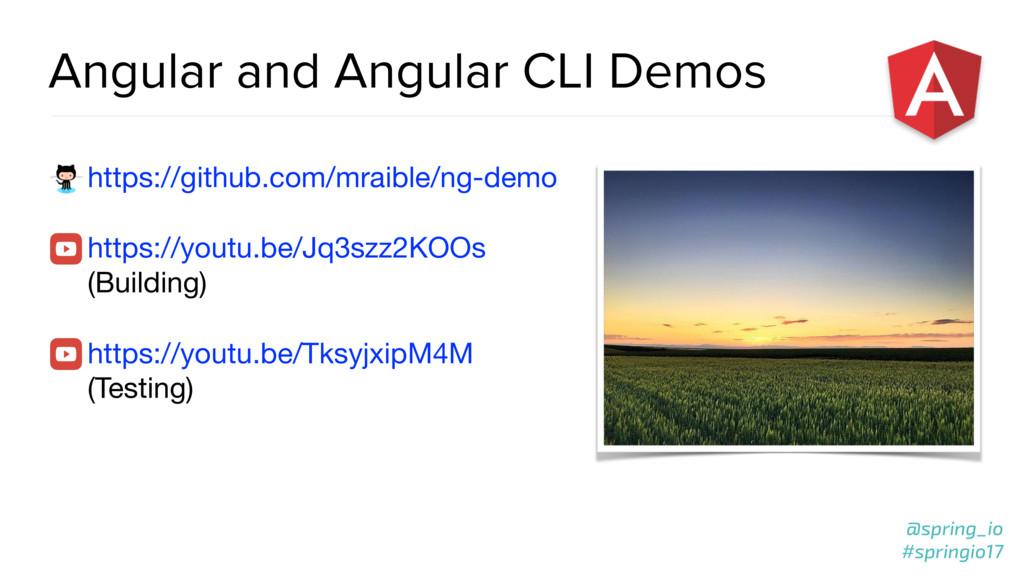 @spring_io #springio17 Angular and Angular CLI ...