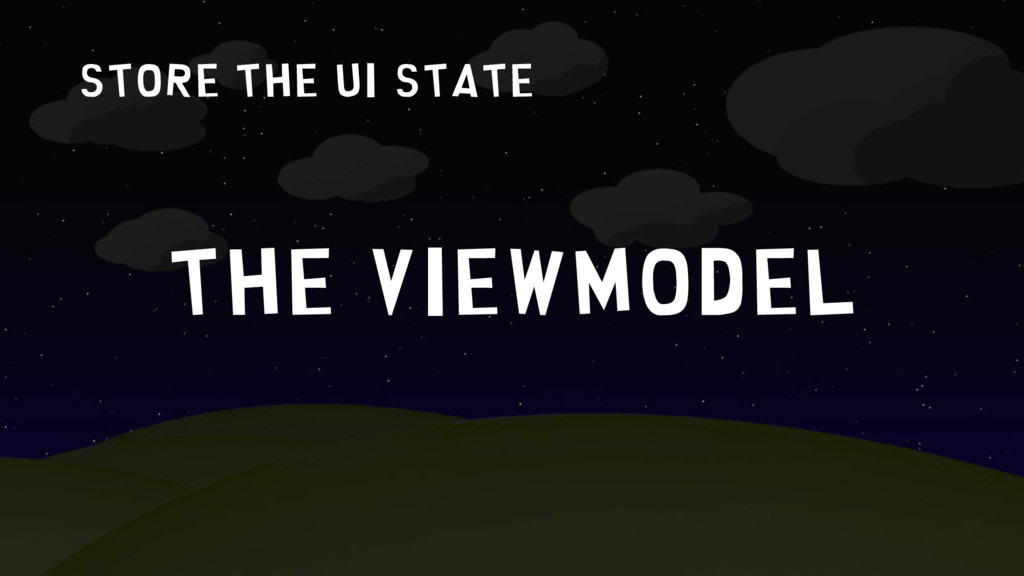 store the UI state The ViewModel