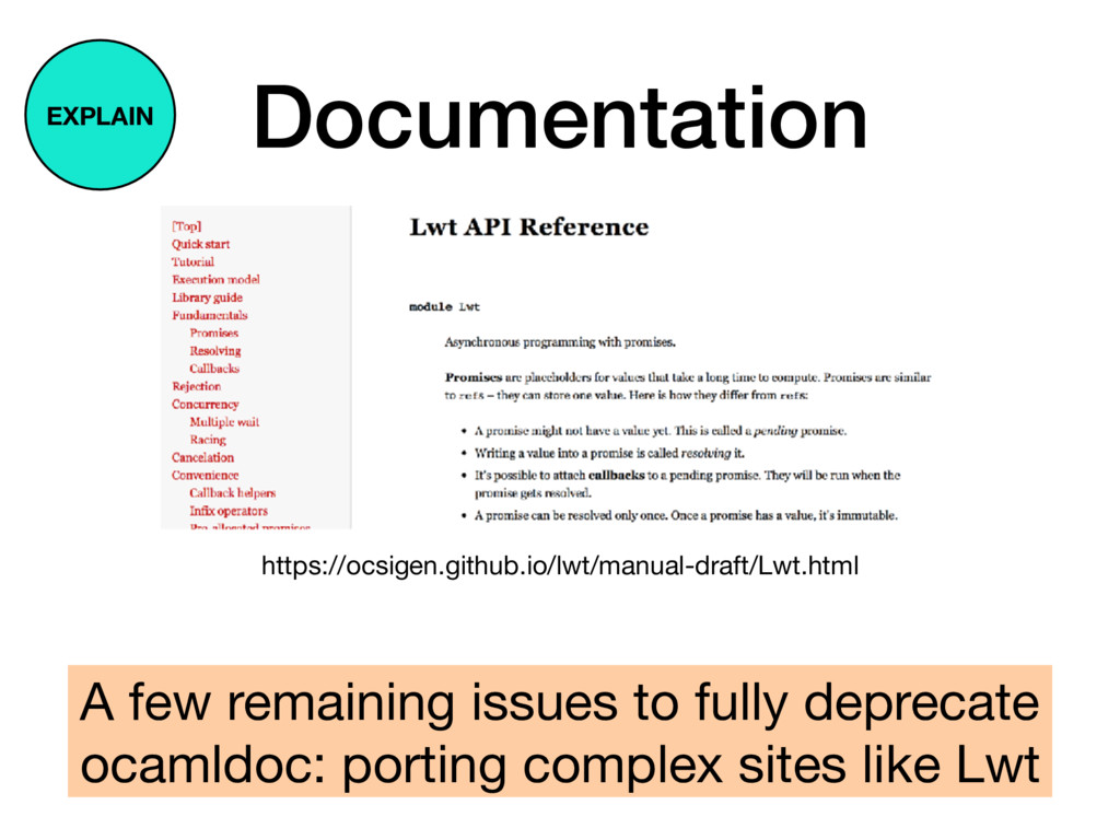 Documentation A few remaining issues to fully d...